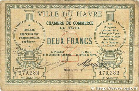 chambre de commerce le havre 2 francs regionalism and miscellaneous le havre