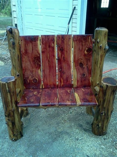 cedar log bench wood furniture pinterest 189 best images about country decor on pinterest log furniture shelves and log bar