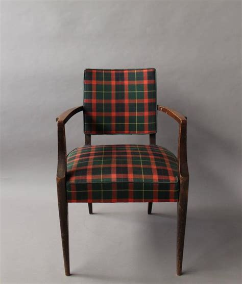 fabric armchairs for sale french art deco bridge armchair with a tartan fabric for