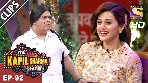taapsee pannu in kapil sharma show manoj and taapsee have a great time with bumper the