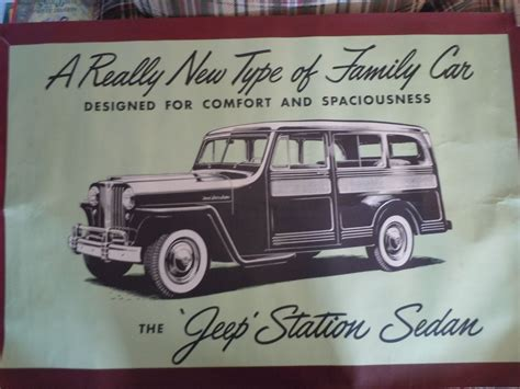 jeep poster 4 dealer posters sold ewillys