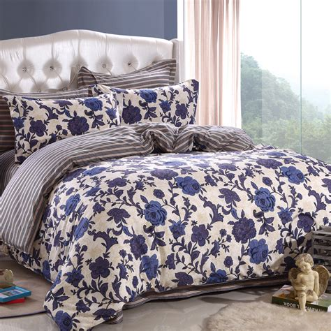 nice bedding sets shop popular blue floral duvet cover from china aliexpress