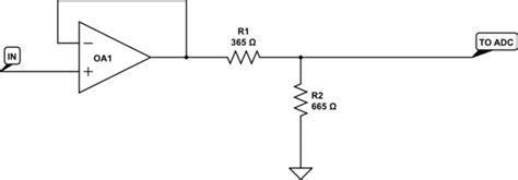 current limiting resistor voltage divider adc limiting the input current with voltage divider electrical engineering stack exchange