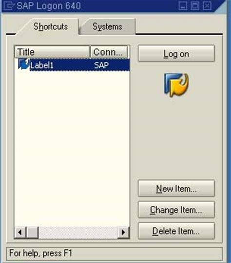 tutorial sap logon 720 creating sap logon shortcut gui tutorials stechies