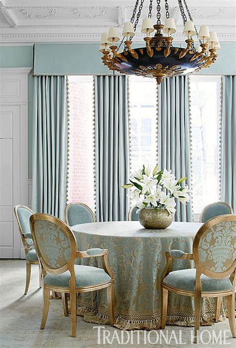 Dining Room Drapes And Curtains The Dining Room Teases With A Color That Is Not Quite Blue