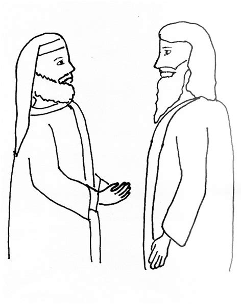 coloring page jesus and nicodemus free coloring pages of john 3 16