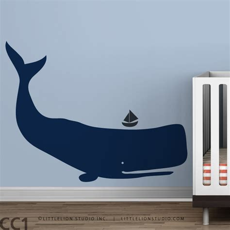 whale wall stickers baby zoo whale blue boys room decor