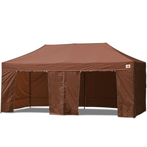 fliese 10 x 20 abccanopy 10x20 deluxe brown package tent with roller bag