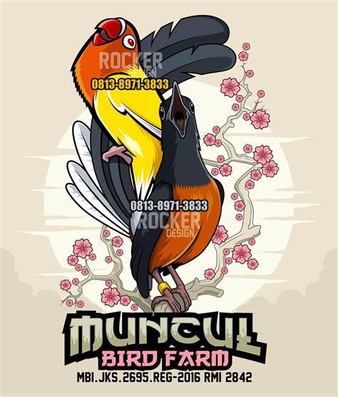 muncul bird farm logo  order design mail rocker