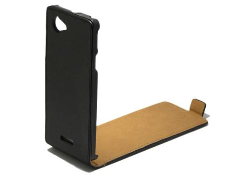 Leathercase Ozaki Sony Xperia L slim leather voor sony xperia l