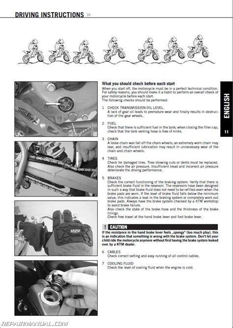Ktm 65 Sx Repair Manual 1998 2008 Ktm 60sx 65sx 65xc Repair Manuals On Cd Rom