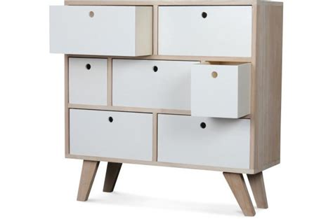 Commode Pas Cher Montreal by Commode Style Scandinave En Bois 7 Tiroirs 60x25x69