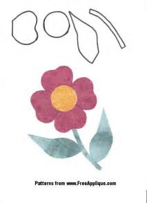 Free flower patterns to use for applique quilting or clipart