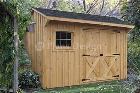 Saltbox Style Shed by 8 X 12 Saltbox Style Storage Shed Project Plans Design