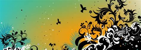 psd nature pattern nature pattern with birds vectors 365psd com
