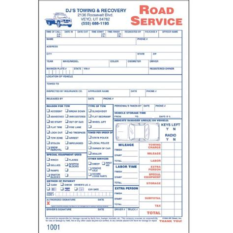 tow truck receipt template tow truck invoice forms studio design gallery best