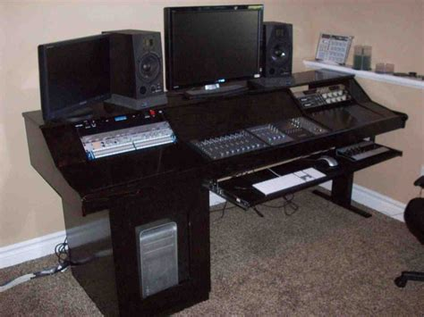 home recording studio desk diy studio desk home furniture design