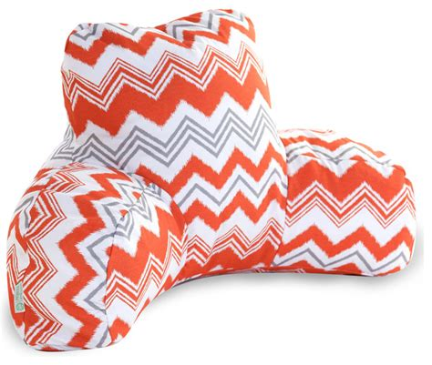 outdoor orange zazzle reading pillow