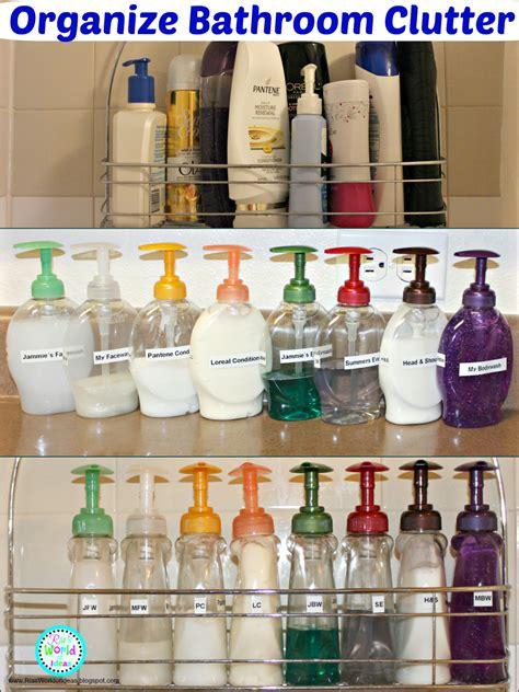 organizing a bathroom ria s world of ideas organize bathroom clutter