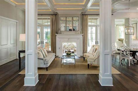 living room columns home design