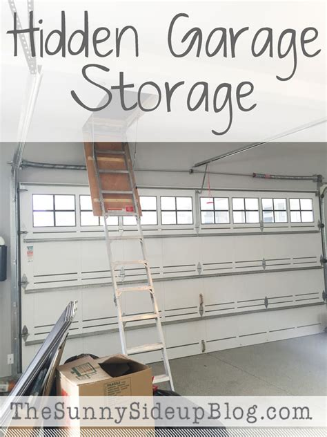 Cool Shelving by Hidden Garage Storage The Sunny Side Up Blog
