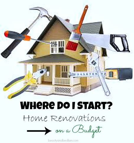 home renovations where do i start when i m on a budget