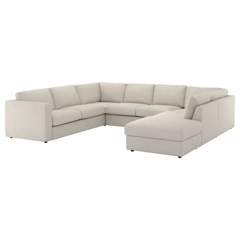 seats en sofas vimle u shaped sofa 6 seat with open end gunnared beige
