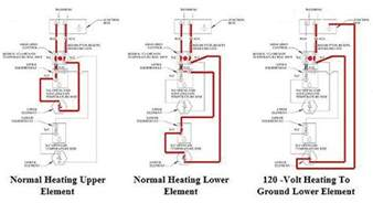 wiring diagram typical to residential 240 volt non simultaneous operation water heaters electric
