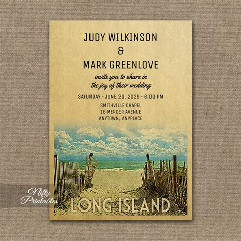 Wedding Invitations Island