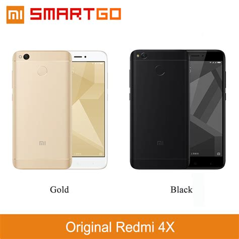 Original New Xiaomi Redmi 4x Prime Gold Ram 3gb 32gb Garansi מוצר original xiaomi redmi 4x mobile phone 2gb ram 16gb rom snapdragon 435 octa cpu 5 0
