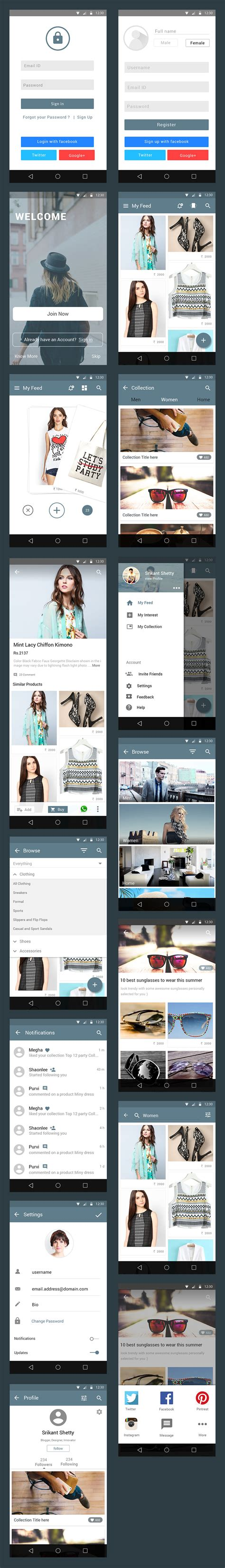 ecommerce app ui free psd download download psd style free e commerce app ui kit graphicsfuel