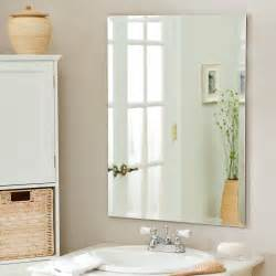 frameless bathroom wall mirror d 233 cor frameless leona wall mirror 23 5w x 31