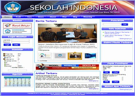 tutorial website sekolah cms balitbang 3 5 3 update mei 2017 catatan ict