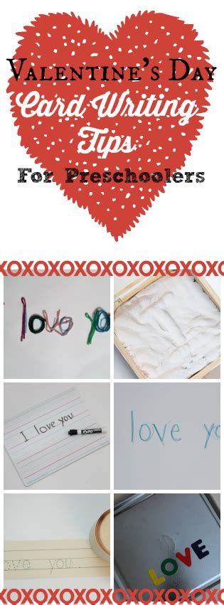 what can i write in a valentines card s day card writing tips for preschoolers