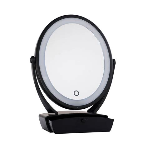 black touch control lighted makeup mirror impressions vanity co touch chill 1x 5x dual vanity