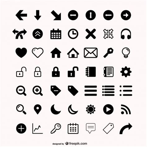 icon design vector free download assorted icons set vector free download