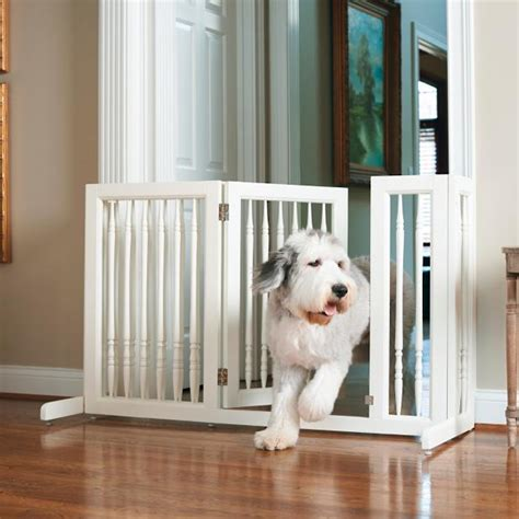 frontgate gate frontgate sliding pet gate white wash mahogany wash from frontgate for 179 40