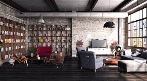 create  modern interior  loft style