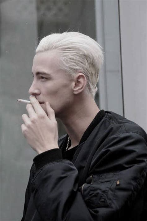 mens hairstyles dyed blonde bleached hair for men achieve the platinum blonde look