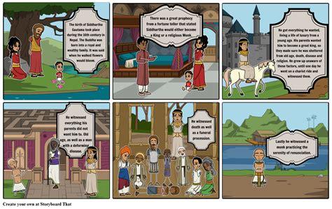 story of story of siddhartha gautama pt 1 storyboard by maddiemoncada