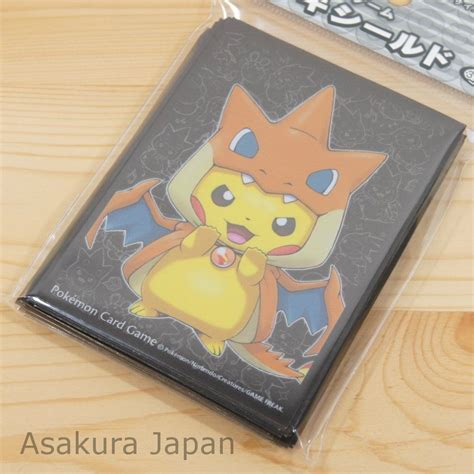 make your own card sleeves center card sleeve mega tokyo charizard y pikachu