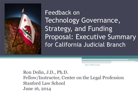 California Judicial Branch Search Feedback On Technology Governance Strategy And Funding Ex