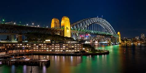 Awesome Night Lights 30 Very Beautiful Sydney Harbour Bridge Images