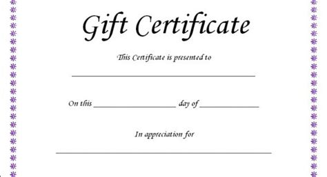 fillable gift certificate template free fillable gift certificate template free lamoureph