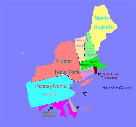 map of the northeast region states and capitals northeast states and capitals map quiz driverlayer