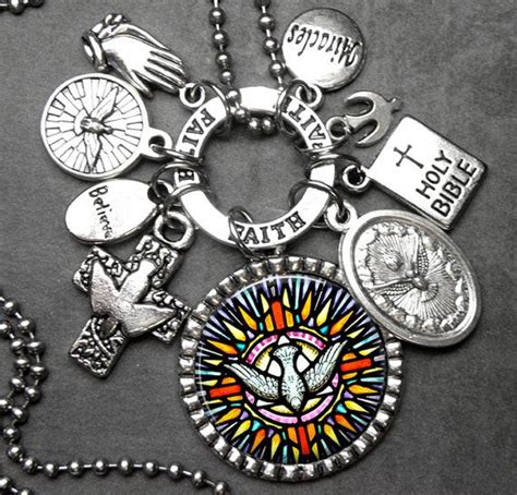 catholic on pinterest 219 pins holy spirit peace dove picture pendant multi by