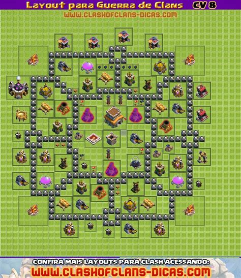 layout para cv 8 guerra layouts de cv 8 para guerra de clans clash of clans