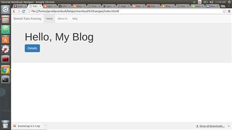 membuat navbar responsive cara membuat navigasi bar responsive menggunakan bootstrap