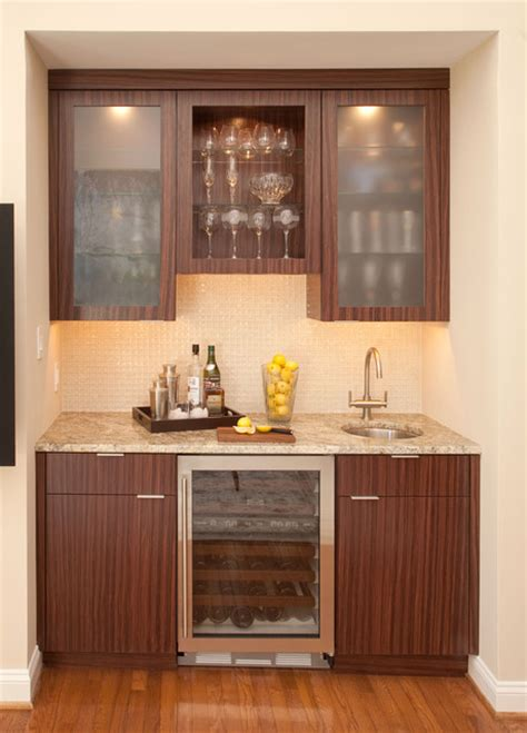 Wet Bar with Sub Zero Wine Storage Cooler   Wine Cellar   Philadelphia   by Mrs. G Appliances