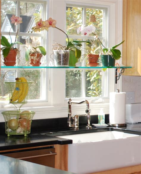 Kitchen Window Shelf Ideas - kitchen